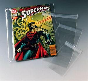 Protective plastic bag magazine comic protector dust cover self seal reusable
