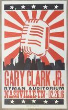 2016 Gary Clark Jr. - Nashville Letterpress Concert Poster by Hatch Show Print