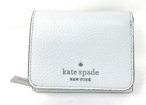 Kate Spade Leila Small Leather Trifold Continental Wallet Moonlight WLRU0039