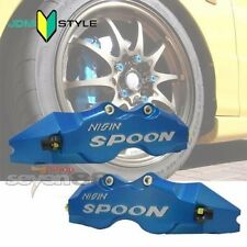Spoon Style Racing Brake Caliper Cover 195mm Civic EG EK DC FD CRx CRz Rear Blue