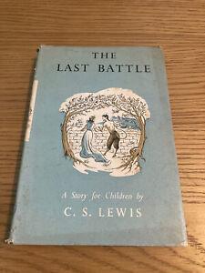 C S Lewis, The Last Battle - Narnia - 1st UK Print HB in DJ, Bodley Head 1956