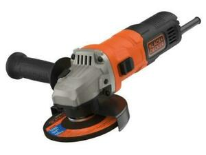 BLACK+DECKER 710W Corded 115mm Compact Angle Grinder plus 5 discs NEW BOXED
