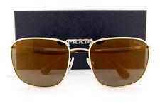 Brand New Prada Sunglasses 52TS 5AK 4L0 Gold/Gold Mirror For Men