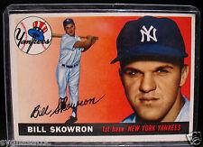 1955 Topps BILL SKOWRON #22 Baseball Card-VG/EX Condition-NEW YORK GIANTS