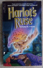 Harlot's Ruse by Esther M Friesner PB 1st Questar - God nor Demon can stop Megan