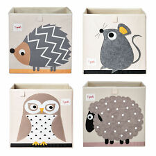 3 Sprouts Children's Storage Toy Bins, Hedgehog, Mouse, Owl, & Sheep (4 Pack)