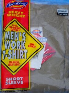 Underwear - Men's - T-Shirts - Crew Neck + Pocket - Colors - Dickies - XL to 3X