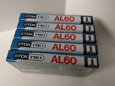 5 Sealed TDK Pro AL60 Blank Audio Cassette Tapes