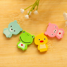 4pcs/Kit New Frog Shaped Eraser Rubber Stationery Creative Kids School Supplies
