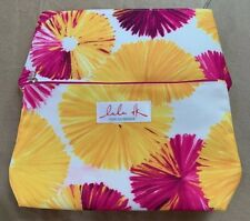 Lot of 2 LuLu DK for Clinique Cosmetic Bags Yellow Pink set (4 pcs)