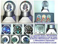 BOMBONIERA LAMPADA MAGICA RILASSANTE con PROIETTORE LED E SFERA VETRO DI MURANO