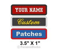 "Custom Embroidered Name Tag Sew on Patch Motorcycle Biker Patches 3.5"" x 1"" (A)"