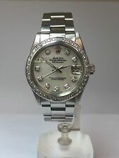 "Genuine Rolex Date-Datejust Precision 6466 31mm Manual Winding ""MOP DIAMONDS"""