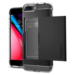 For Apple iPhone 7 7 Plus Spigen®[Crystal Wallet] Card Slot Case Cover