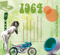 52nd Birthday Gifts - 1964 Classic Retro Pop CD Greetings Card - CD Card Company