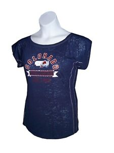 NHL Colorado Avalanche Ice Hockey Ladies t-shirt Burnout cotton Fashion Fitted