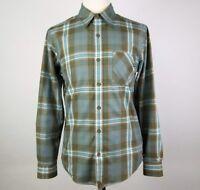 Marmot Men's Plaid Long Sleeve Button Front Shirt Size S Green Blue Orange Small