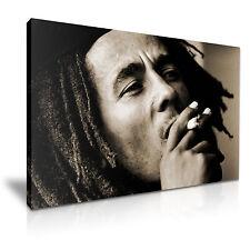 BOB MARLEY Sepia Music Canvas Framed Print 30X20 INCH / 76x50CM