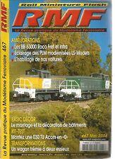 RMF N°467 BB 63000 / ECLAIRAGE DES PLM MODERNISEES / WAGON TREMIE A DEUX ESSIEUX