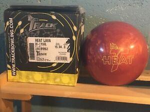 Track Heat Lava QR - 7 Pearl 15lbs NIB & Undrilled With Great Box Spec.'s!!!!!!!