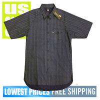 Levi's Men's NWT SKATEBOARDING Short Sleeve Button Front Shirt NAVY BLUE Large