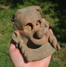 Rare Authentic Pre Columbian Mayan Face Pottery