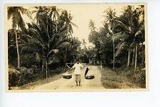 Southeast Asian Food Vendor RPPC Vietnam? Thailand? Vintage Photo ca. 1910s