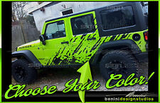 2007 2008 2009 2010 2011 2012 2013 2014 2015 Jeep Wrangler Mud Splash Graphics