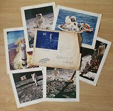 """RARE - 1969 six official 11""""x14"""" NASA Apollo 11 prints in original envelope"""