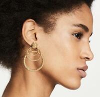 Boho Women Fashion Metal Multi-layer Circle Round Ear Stud Drop Dangle Earrings
