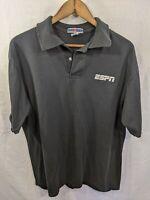 Jerzees Mens Logo ESPN Sports TV Sportscaster Staff Shirt Large 90s Retro