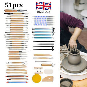51pc Ceramics Clay Sculpture Polymer  Carved Craft Sculpting Pottery Tool Kit