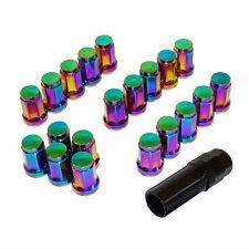 20pcs Steel Heptagon Wheel Lug Nut M12xP1.5 Rainbow For HONDA TOYOTA ACURA LEXUS