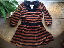 Katvig Chocolate Brown Velour Dress, Size 4 - 5 Years