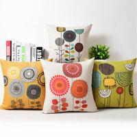 Cotton Linen Idyll Dandelion Pillow Case Sofa Throw Cushion Cover Home Decor