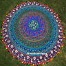 Mandala de India Psicodélico Tapiz Decoración Pared Redondo Playa Manta Yoga Mat