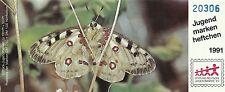 Allemagne Germany Papillons Solitaire Butterflies Schmetterlinge ** 1991 Carnet