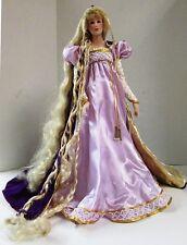 Vintage Franklin Mint Rapunzel Porcelain Heirloom Doll