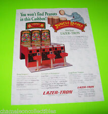 JUNGLE RAMA By LASER TRON NOS REDEMPTION GAME MACHINE SALES FLYER BROCHURE