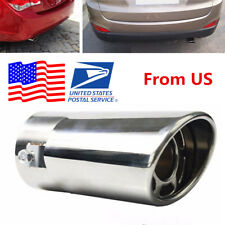 Durable Silver Stainless Steel Car SUV Round Exhaust Pipe Tip Tail Muffler Cover