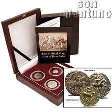 3 BIBLICAL MAGI COIN BOX SET Ancient Persia Silver/Bronze Azes II Jesus 35BC-5AD