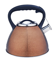 3L Stainless Steel Water Pot Whistling Tea Kettle Stovepot Teapot Teakettle Gold
