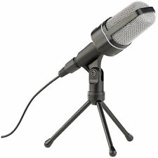 Microphone: Profi-Kondensator-Studio-Mikrofon mit Stativ, 3,5-mm-Klinkenstecker