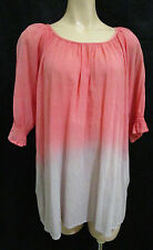 Peace Angel Size 0/S Top Loose-fitting - Coral & Mauve as new