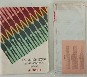 Singer SRP 50 Knitting Machine Ribbing Attachment Instruction Manual & Cards
