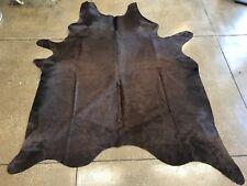 Solid Brown Brazilian Cowhide Skin Rug