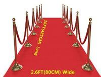 15FT RED Carpet Floor Runner Wedding Birthday Hollywood Party Prop Decoration