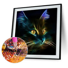 5D Round Diamond Embroidery Painting Rhinestone DIY Craft Cat Room Decor N#S7