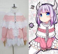 Miss Kobayashi's Dragon Maid  Kamui Kanna Lolita Pink dress set Costume cosplay