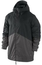 Nike SB Kampai Mens Snowboard Ski Jacket Winter Snow Coat Black Grey 10K